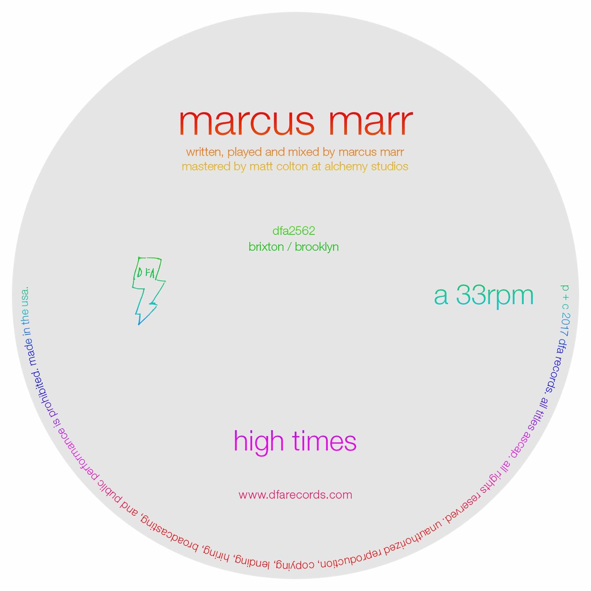 "Marcus Marr ""High Times"" (Gerd Janson Discotheque Remix) (2017)"
